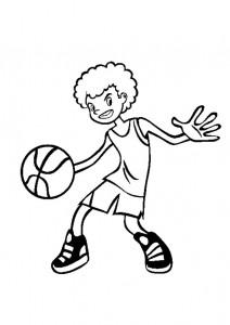 kleurplaat Basketbal