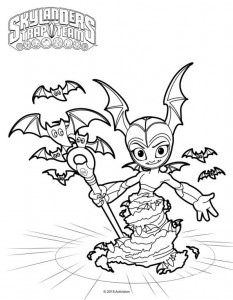 bat spider coloring page