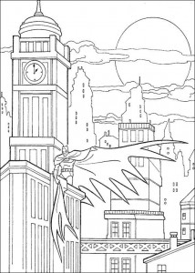 kleurplaat Batman (26)