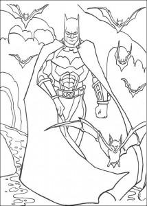 kleurplaat Batman (35)
