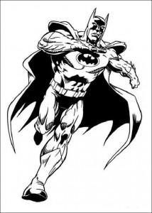 kleurplaat Batman (39)