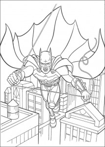 kleurplaat Batman (9)