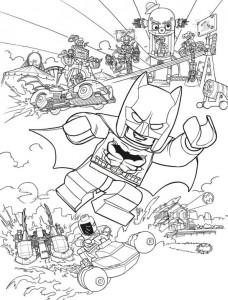 batman action målarbok