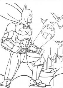 kleurplaat Batman