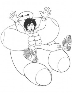 baymax hero coloring page