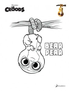 coloring page Bear pear