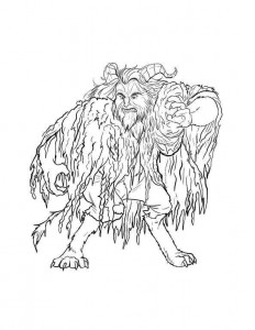 coloring page beast 2