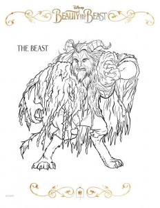 beast coloring page