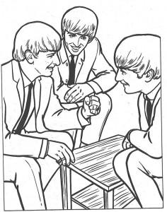 kleurplaat Beatles (1)