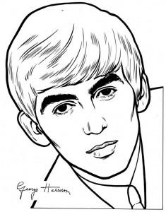 kleurplaat Beatles (5)