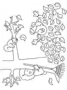 målarbok Begravd under träden