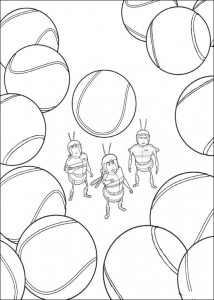 coloring page Bee-film (12)