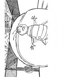 målarbok Bee Movie (13)