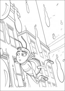 coloring page Bee-film (15)