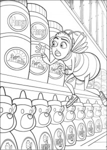 coloring page Bee-film (22)