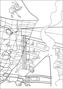 coloring page Bee-film (25)