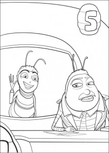coloring page Bee-film (27)