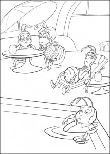coloring page Bee-film (35)