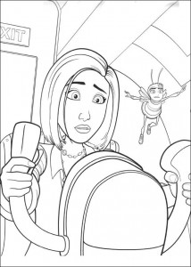 coloring page Bee-film (37)