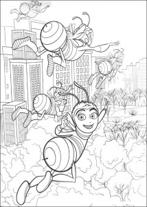 coloring page Bee-film (39)