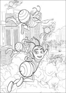 Disegno da colorare film d'api (39)