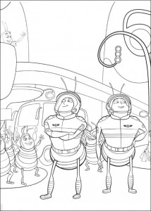 coloring page Bee-film (7)