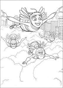 coloring page Bee-film (8)