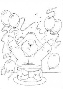 målarbok Paddington Bears födelsedag