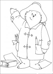 coloring page Paddington bear