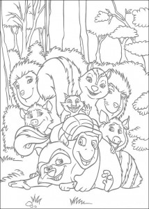 coloring page Animals at the neighbors (3)