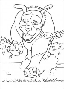 coloring page Animals at the neighbors (6)