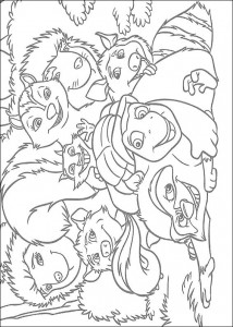 coloring page Animals at the neighbors (9)