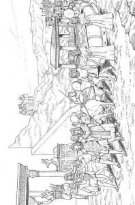 kleurplaat Begrafenis Farao