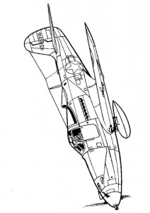 coloring page Bell P-39Q Be Aircobra 1943