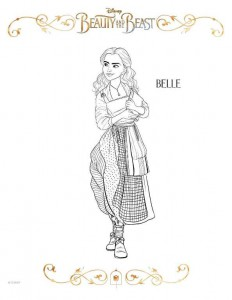 coloring page belle (2)