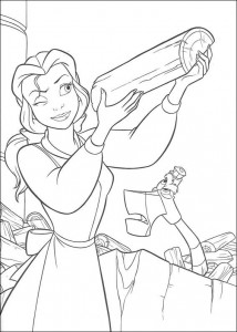 coloring page Belle and the Beast (1)