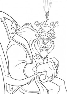 Dibujo para colorear Belle and the Beast (10)