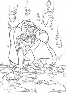 Dibujo para colorear Belle and the Beast (11)