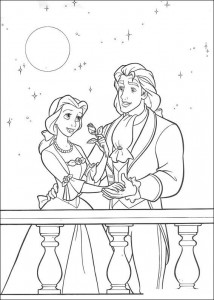 Dibujo para colorear Belle and the Beast (12)
