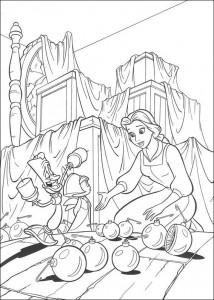 kleurplaat Belle en het Beest (14)