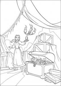 kleurplaat Belle en het Beest (15)