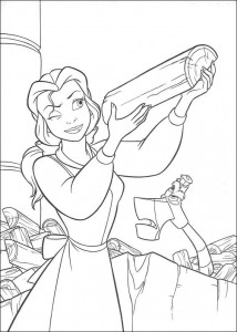 coloring page Belle and the Beast (16)