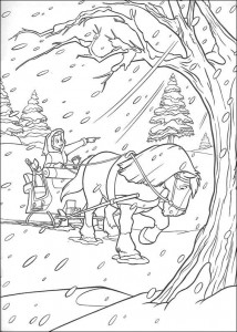 coloring page Belle and the Beast (19)