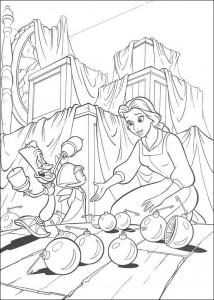 kleurplaat Belle en het Beest (2)
