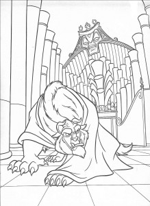 Dibujo para colorear Belle and the Beast (21)