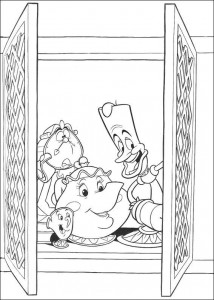 coloring page Belle and the Beast (4)