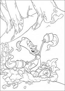 kleurplaat Belle en het Beest (5)