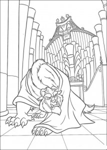 Dibujo para colorear Belle and the Beast (6)