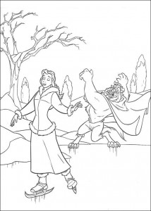 coloring page Belle and the Beast (7)