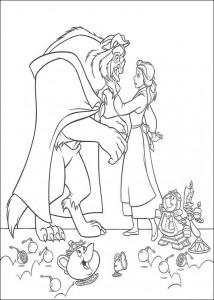 coloring page Belle and the Beast (9)
